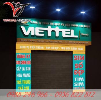 Làm biển quảng cáo Viettel