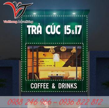 Làm biển quảng cáo coffee